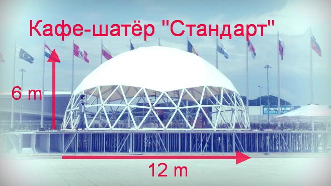 Кафе-шатер Стандарт 12 м.